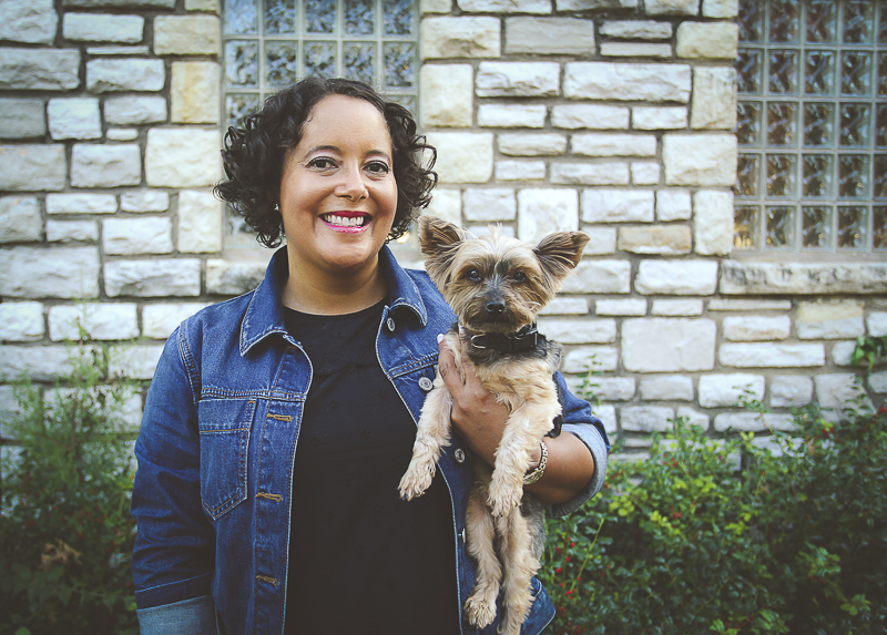woman holding her dog, lifestyle pet photography | ©Aim With Mia Photography, St Louis, MO