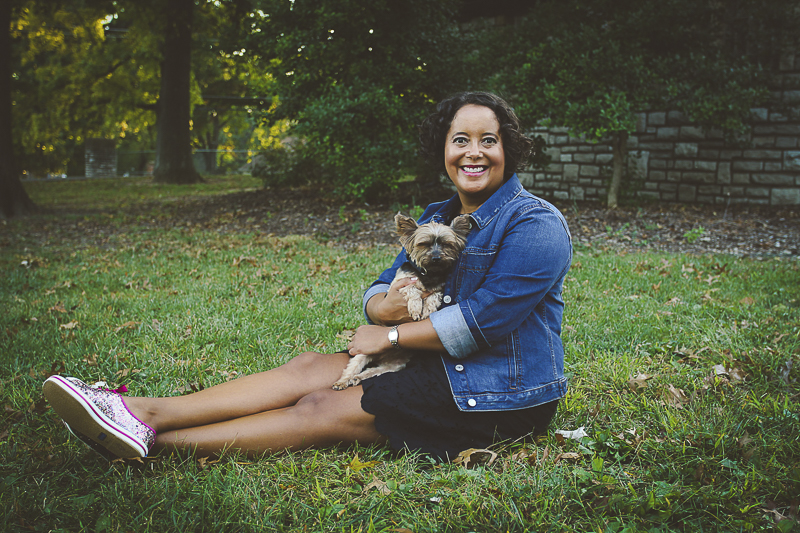 beautiful woman holding her dog, love between dogs and people | ©Aim With Mia Photography, St Louis, MO, lifestyle family portraits,