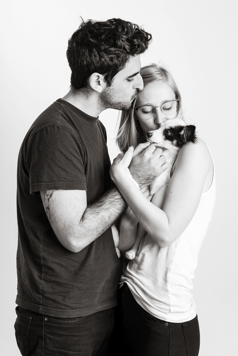 dogs are family, cute couple and their puppy, Syracuse pet photography | ©Alice G Patterson Photography