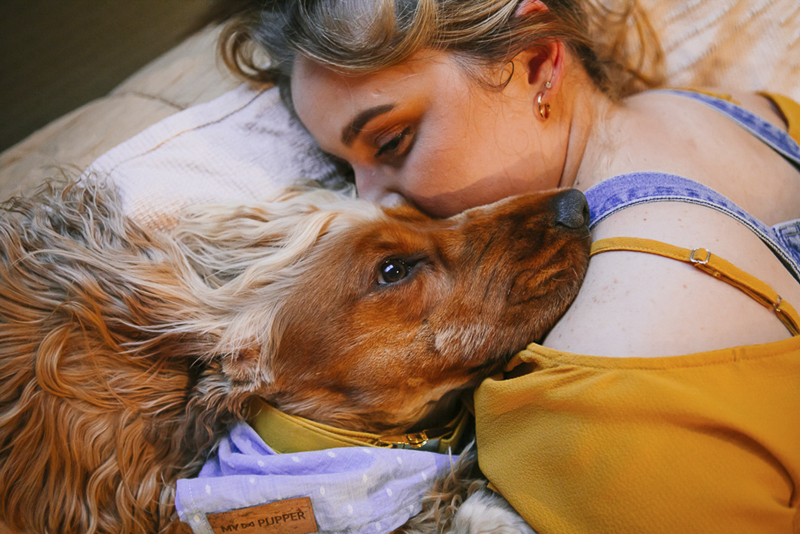 dog mom and her pup, lifestyle dog photography ©Dogfolk, in-home dog photo shoot