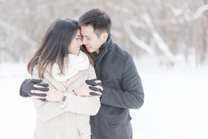 winter engagement session | ©Rebecca Sigety Photography, Reston, VA