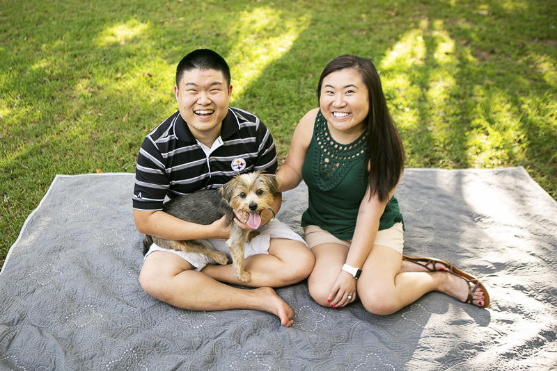cute couple and their dog We The Lees | Mandy Whitley Photography | Nashville lifestyle dog photographer