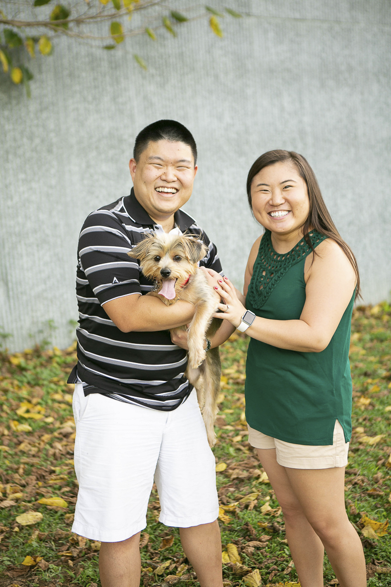 couple and their Yorkie mix | Mandy Whitley Photography, lifestyle pet and family photography