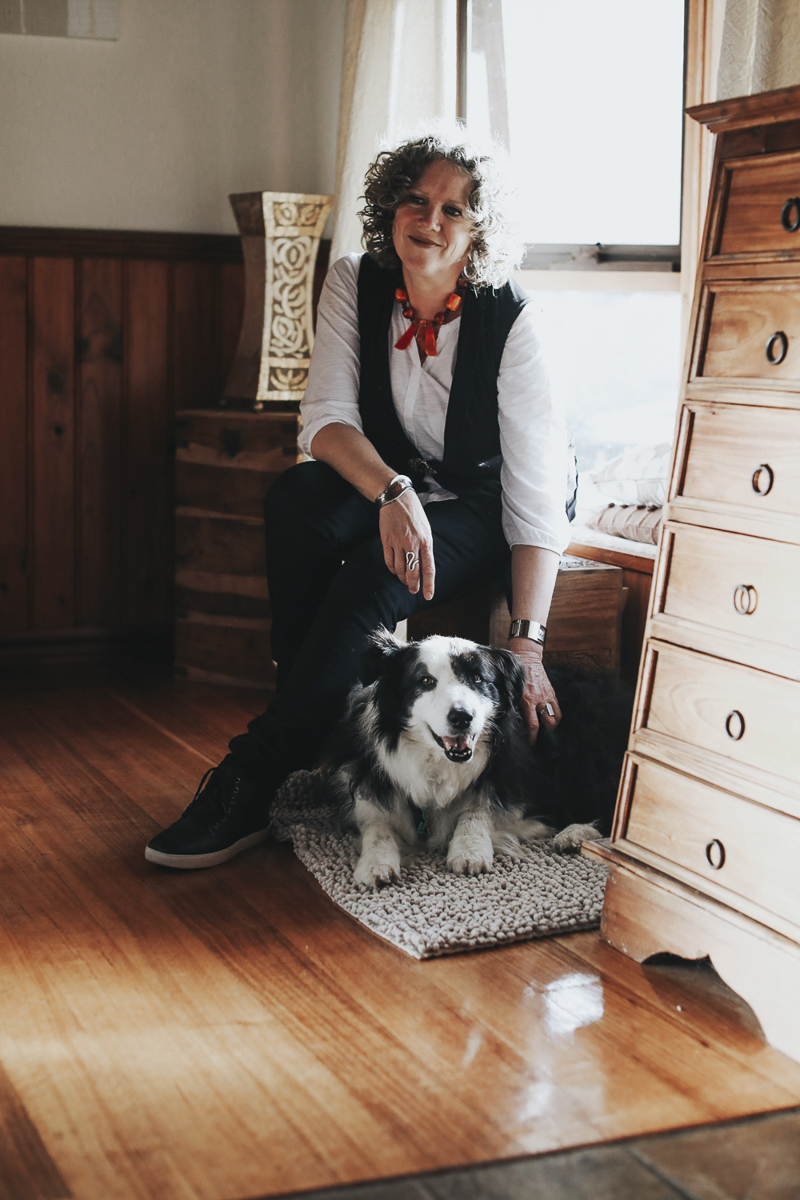 woman and Border Collie, documenting the love between dogs and people, end of life session ©Dogfolk | Melbourne Pet Photographer | Storyteller – in home dog photography
