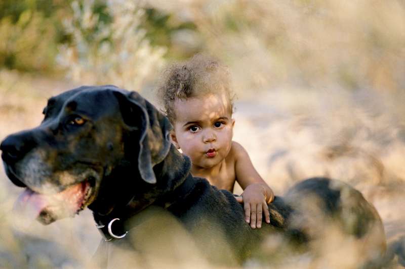 adorable toddler and her dog | beautiful fine art family photography ©Rachel Sima Photography