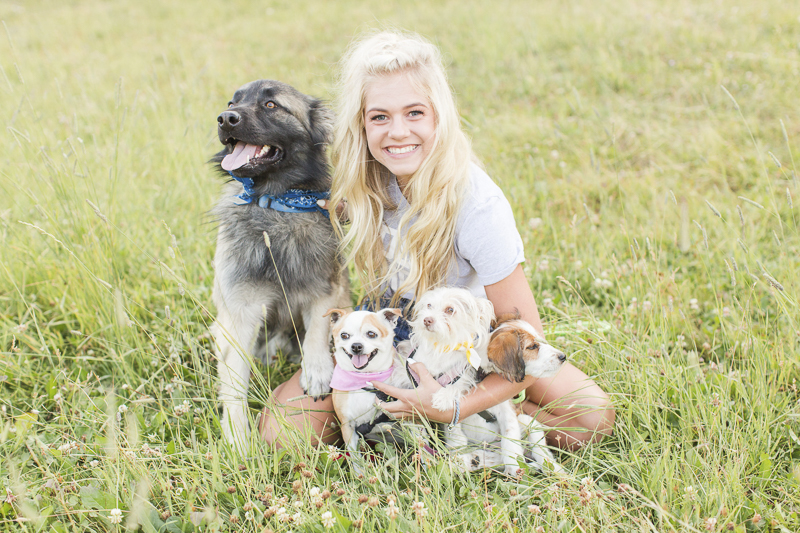 senior girl with her dogs, on location pet and senior portraits, ©Hayden Esau Photography | Casper, WY senior portraits