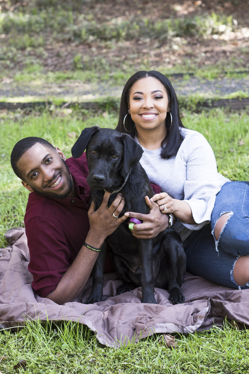 ©Ashley Nicole Photography | summer engagement photos with a dog