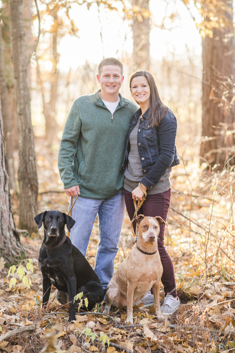 ©Kayla Lee Photography + Design | fall engagement photos with dogs