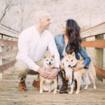 Engagement Photos with Shiba Inus | Red Rock Canyon, NV