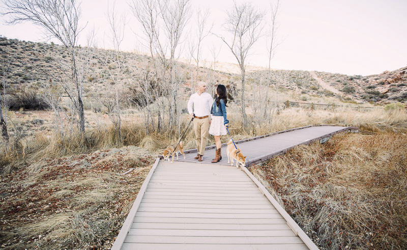 couple walking their dogs, ©Alycia Moore Photography  , Red Springs, Red Rock Canyon, Nevada