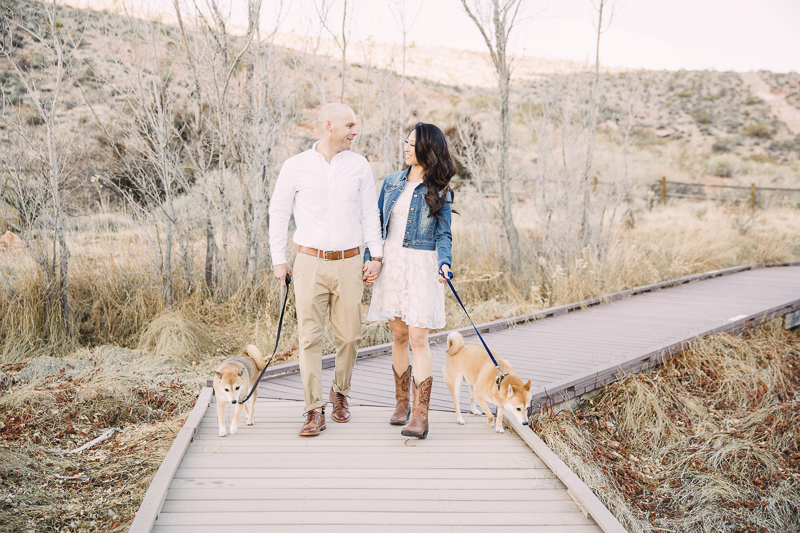 couple walking their dogs, ©Alycia Moore Photography |, Red Springs, Red Rock Canyon, Nevada