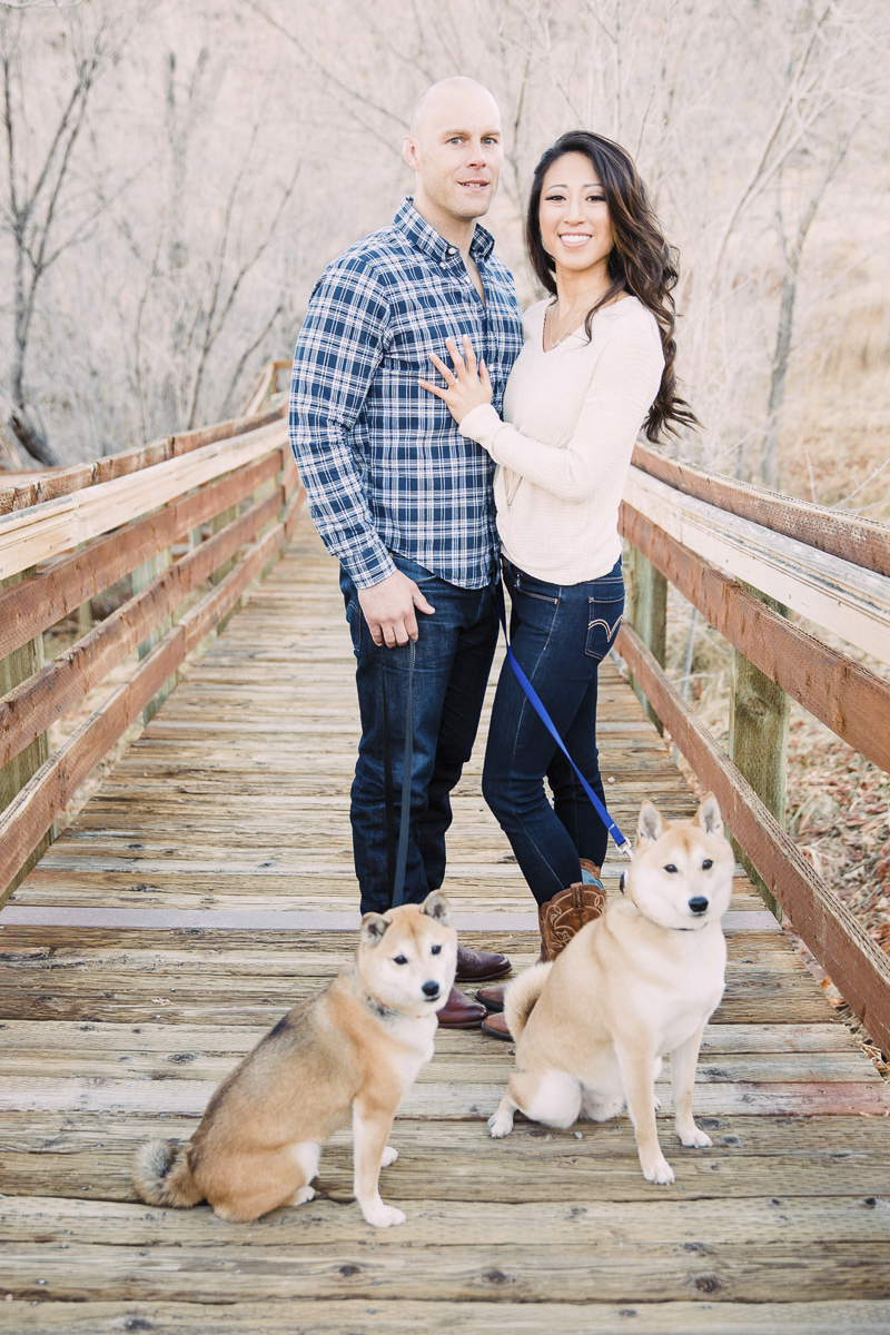 couple and their dogs on boardwalk, Red Springs, Red Rock Canyon ©Alycia Moore Photography