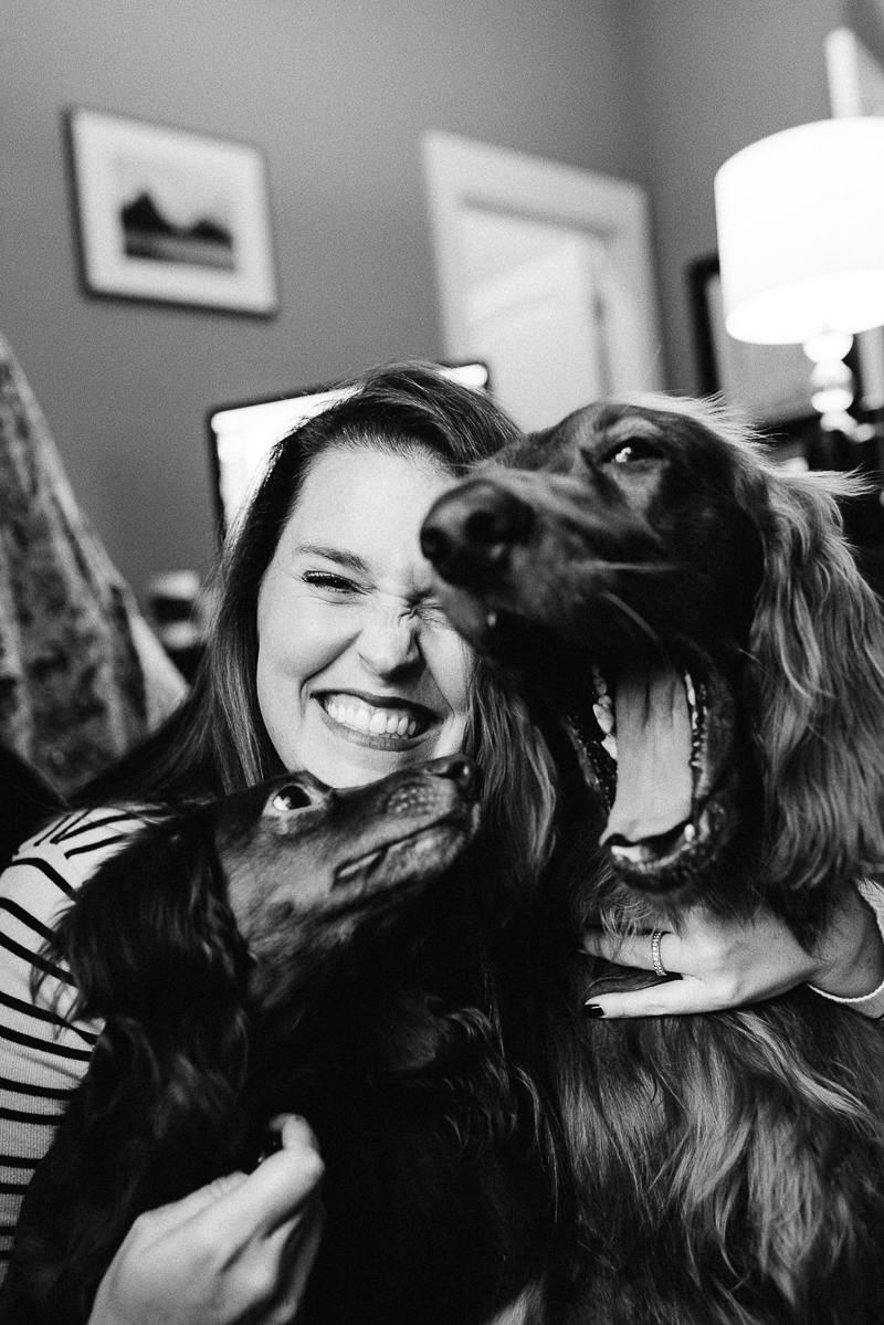 woman's best friends, woman and her dogs | ©Dailey Alexandra Photography | lifestyle pet portraits, Aiken, SC