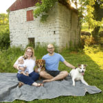 Dog-Friendly Family Photos in Nashville, Tennesee