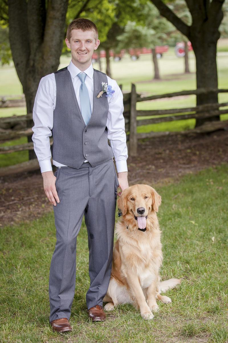 groom and his dog, best (wedding) dog, ©Rheanna Lynn Photography, wedding dog