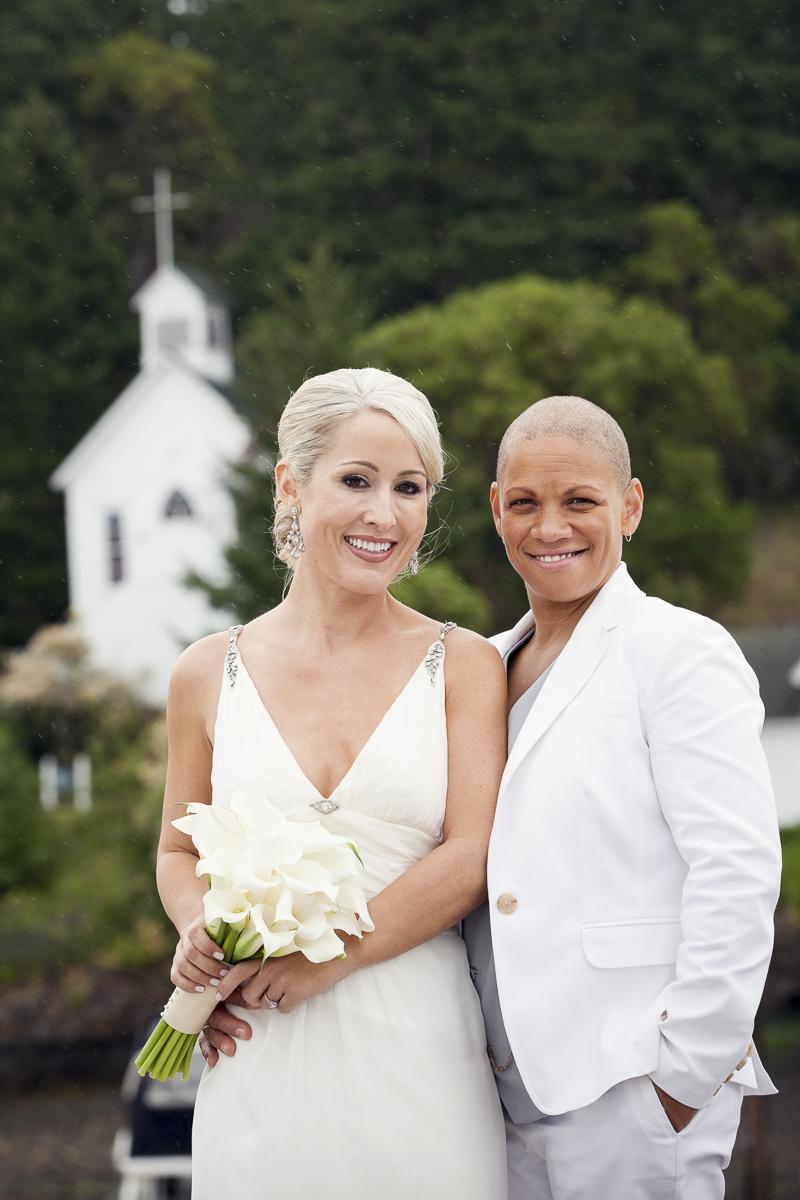 just married ©Stephanie Cristalli Photography   same sex wedding, Roche Harbor Resort