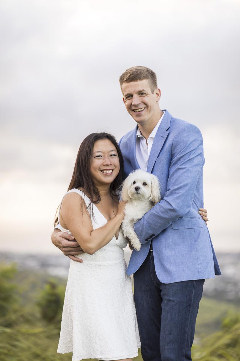 VIVIDfotos-engagement photos with dog, Honolulu, HI