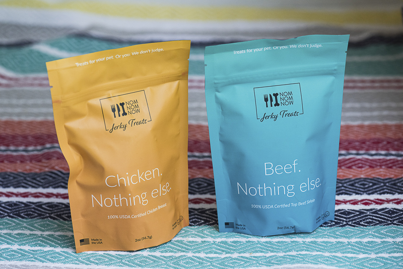 NomNomNow Jerky treats for dogs and cats | ©Alice G Patterson Photography | pet product photography