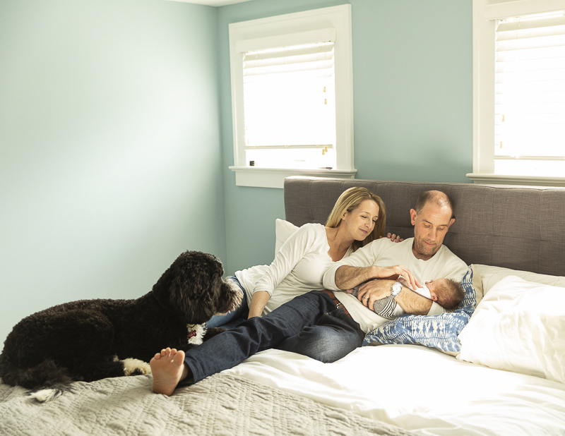 ©Imagine It Photography | dog friendly newborn photography session
