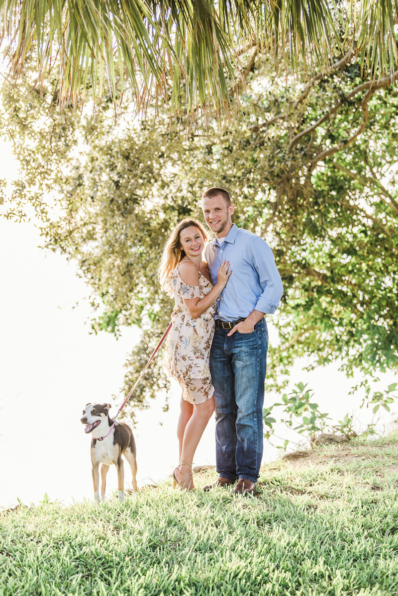 Engagement photos with a dog, ©Liz Cowlie Photography – dog-friendly engagement session