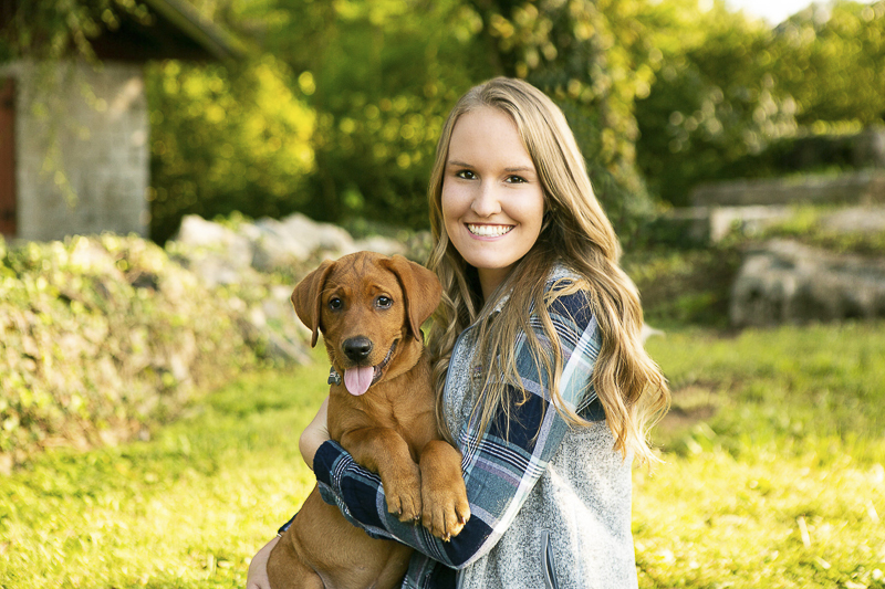 puppy love, celebrate your new best friend with a lifestyle portrait session | ©Mandy Whitley Photography