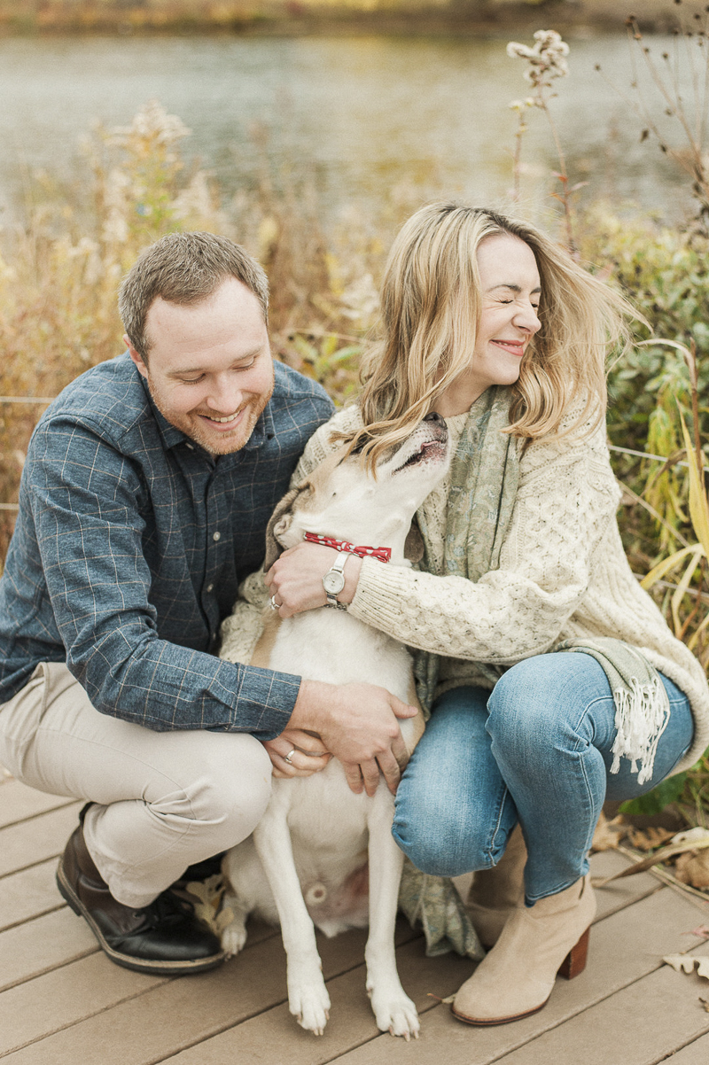 ©Nicole Jansma Photography dog-friendly engagement session, Lincoln Park