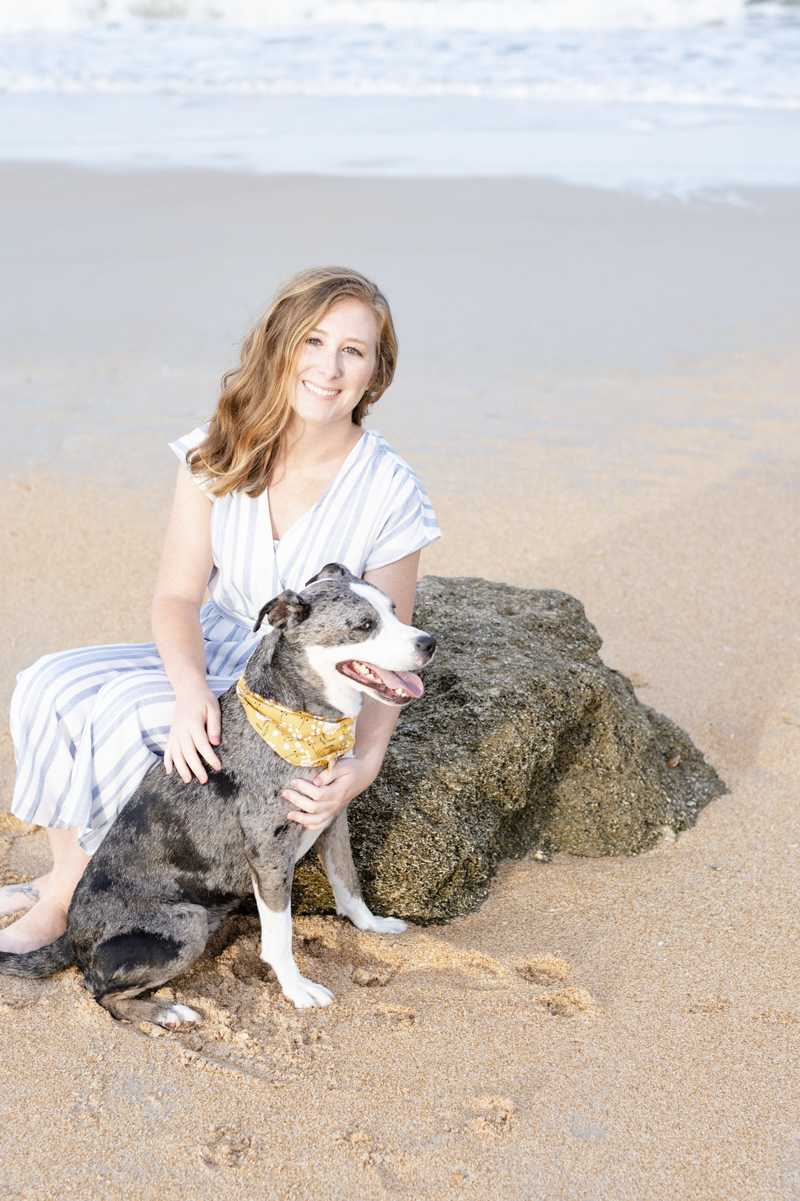 bond between humans and dogs, ©1416 Photography, Marineland Beach Florida, lifestyle family photos