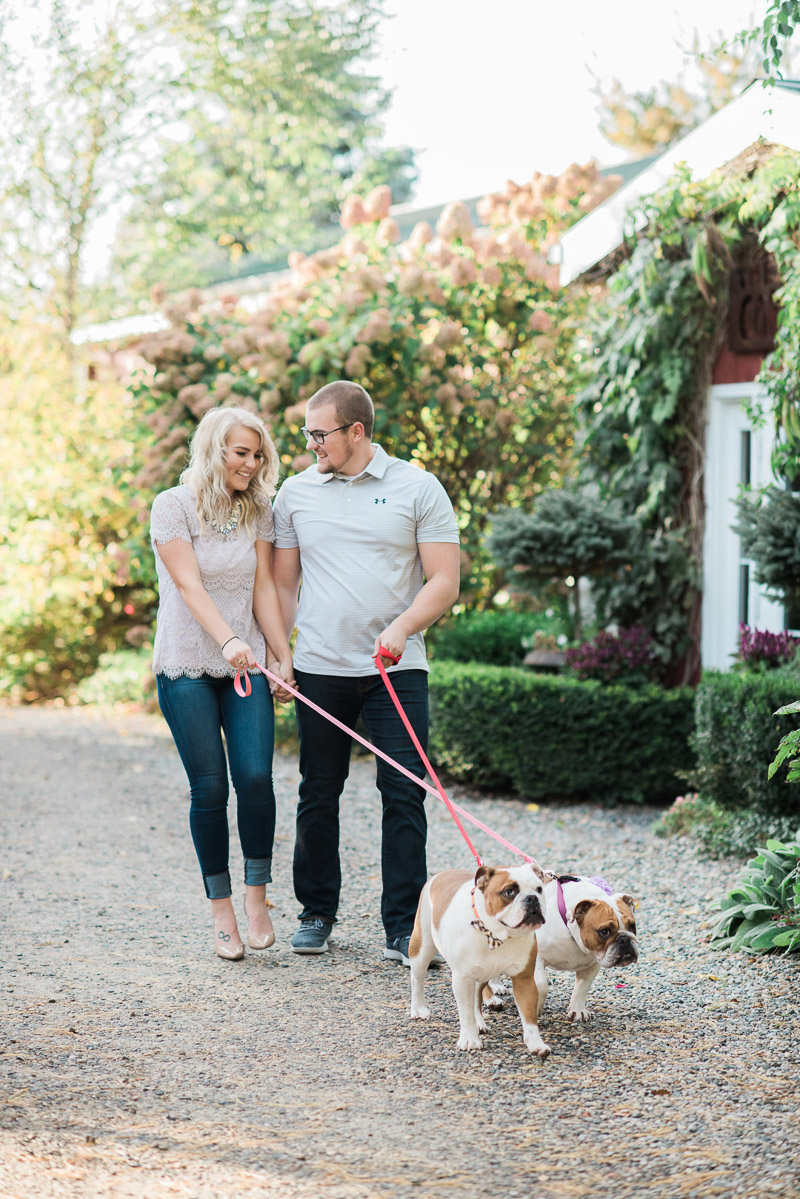 couple walking their dogs, ©Allie Siarto & Co. Photography