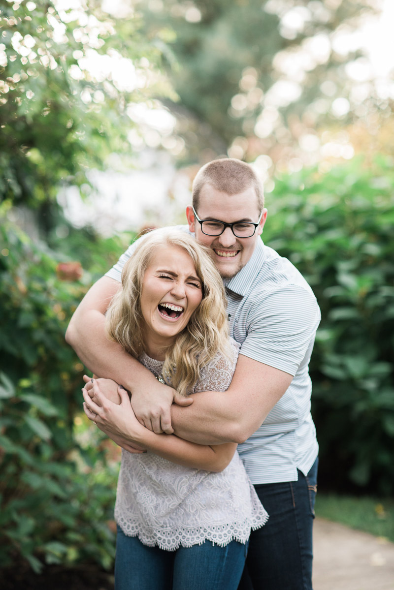 playful engagement portraits, ©Allie Siarto & Co. Photography | dog-friendly engagement session, East Lansing, MI