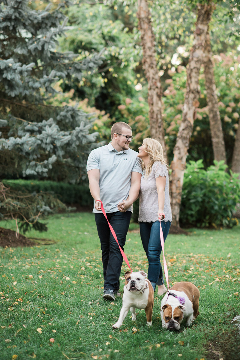 ideas for including dogs in engagement photos, ©Allie Siarto & Co. Photography | dog-friendly engagement session, Battle Creek, MI