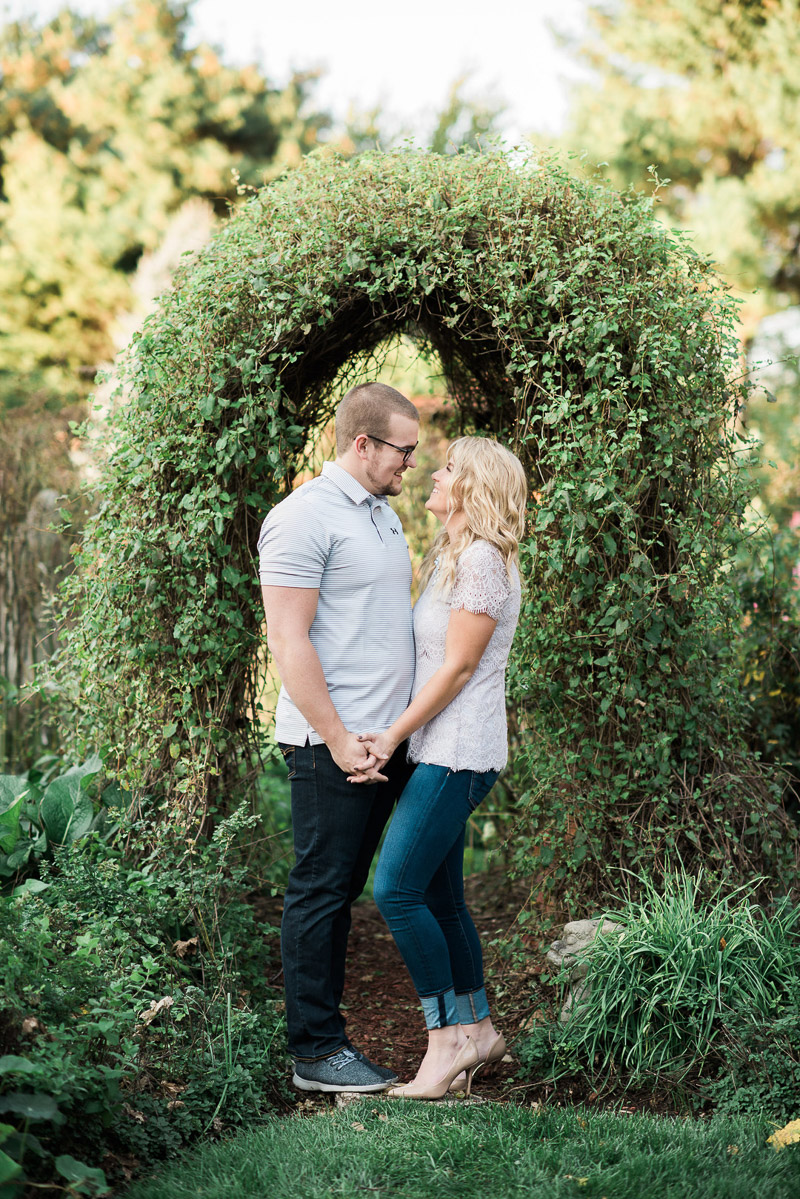 romantic garden engagement photos, ©Allie Siarto & Co. Photography