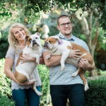 Dog-friendly Engagement Photos With English Bulldogs