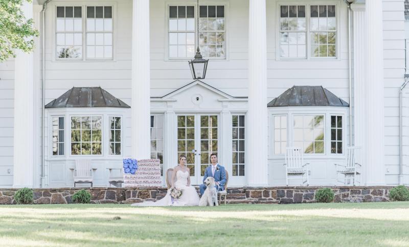 ©Landrum Photography | Patriotic styled shoot, wedding dog, Bohemia Overlook