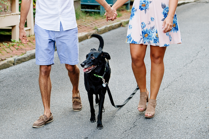 dog-friendly engagement session with black Lab mix | ©Rachel Smith Photography, Annapolis, MD