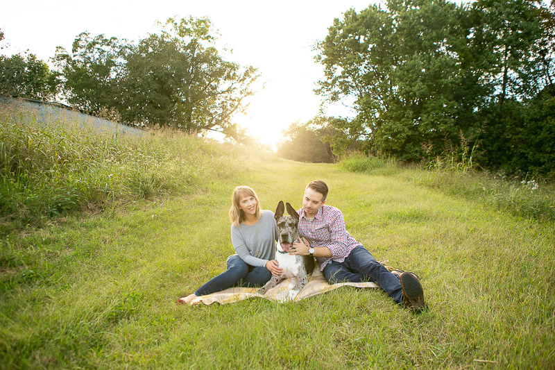family portraits, couple and their dog, ©Mandy Whitley Photography | celebrating the bond between pets and people