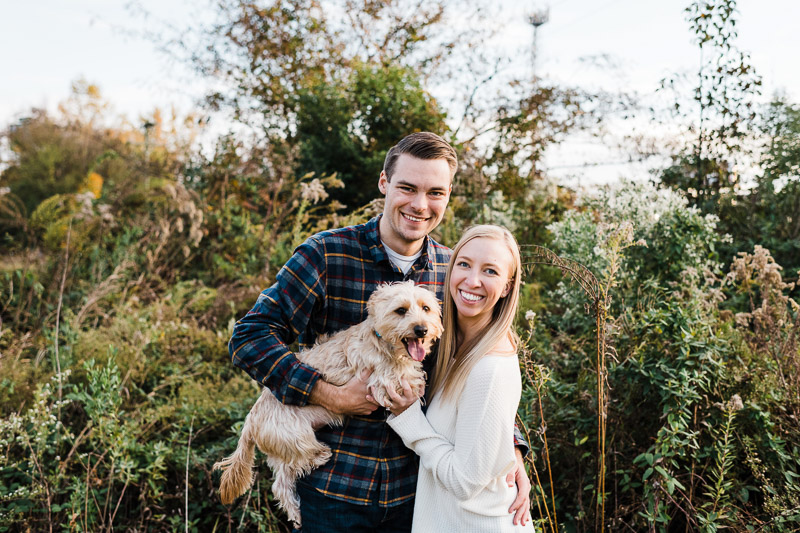 ©Easterday Creative, Charlotte, NC | fall pet-friendly engagement photos