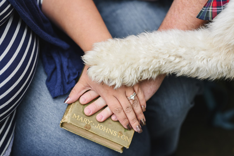 paw and hands, To Have & To Hold book | ©Stephanie West Photography
