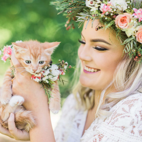 Caturday:  Styled Bridal Portrait Session With Kittens