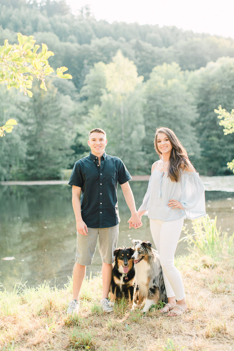 couple and their dogs, anniversary photo session | ©Alicia Yarrish