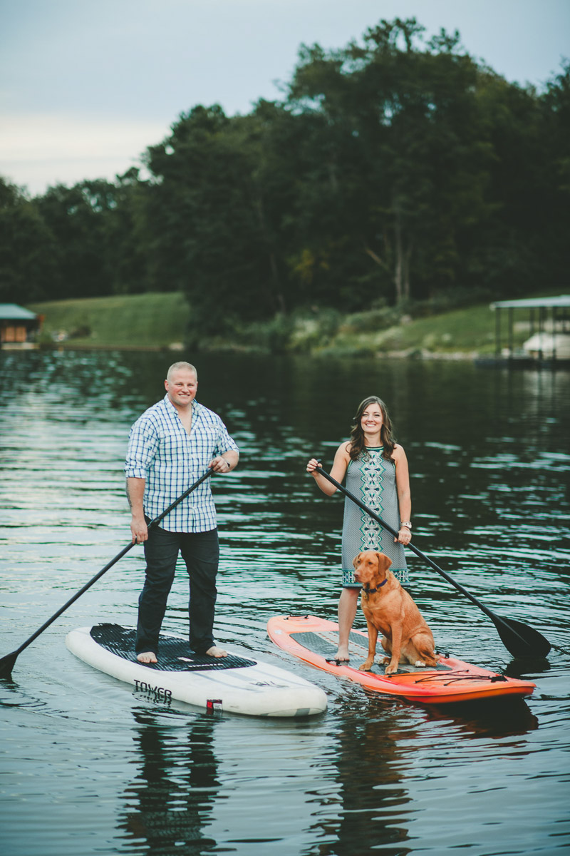 Paddleboarding with a dog | ©Kate Spencer Photography