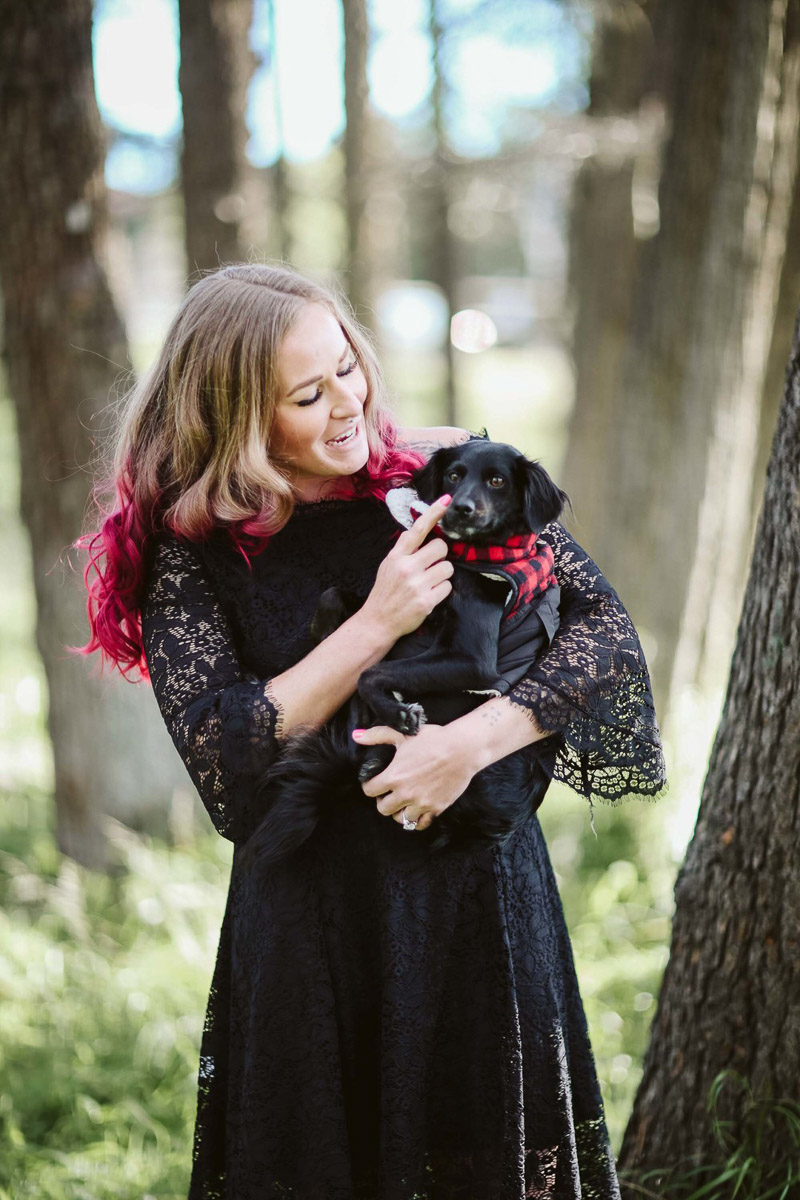 who rescued whom? woman holding dog, ©Playful Soul Photography Engagement Photos With Dog, Irvine CA