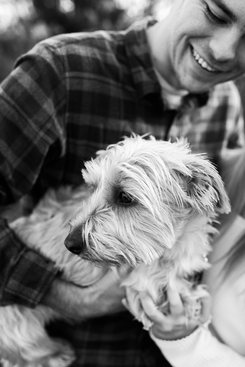 man looking at small dog, man's best friend, ©Easterday Creative