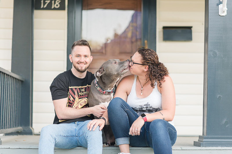 lifestyle family photos with a dog, ©Rose Courts Photography | lifestyle dog photographer, Fort Wayne, Indiana