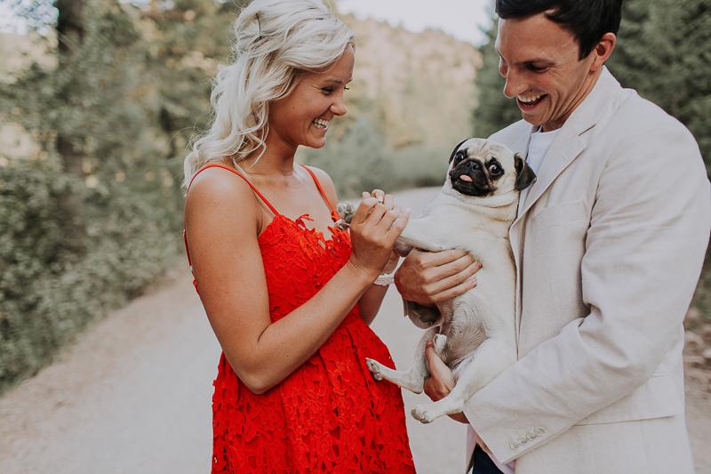 dog friendly engagement photos, ©Abbey Armstrong Photography | Pocatello, Idaho