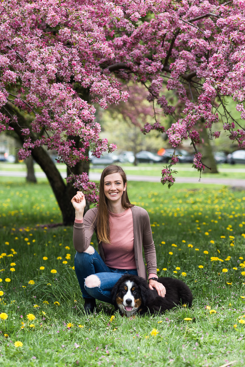 woman and her pup, dog-friendly lifestyle portraits, ©Gavyn Taylor Photo, Chicago lifestyle pet photography
