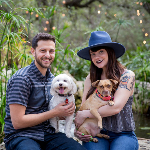 Engaging Tails:  Penny and Bear | Driftwood, Texas