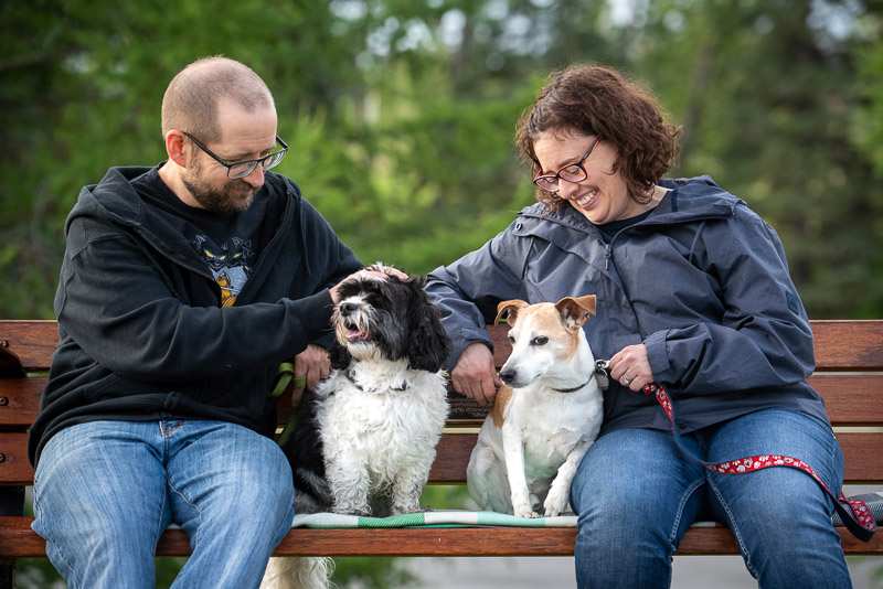 dog-friendly family photos, ©Chase Magic Photography | Calgary lifestyle photography for pets and their people