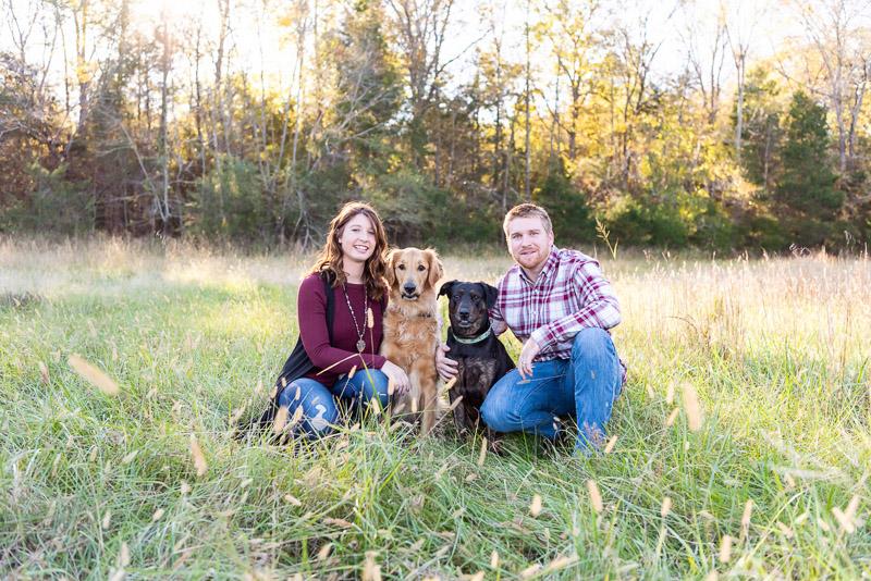 family photos with dogs, ©Tasha Barbour Photography | Denton, NC