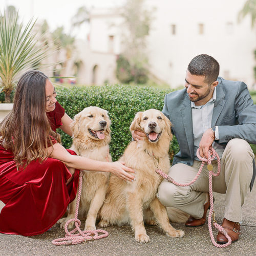 Dog-friendly Engagement Photos | Balboa Park