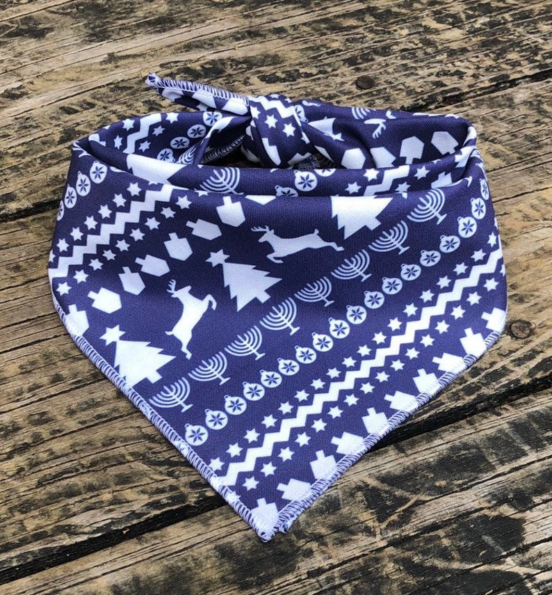 holiday bandana for pets, Hanukkah and Christmas together